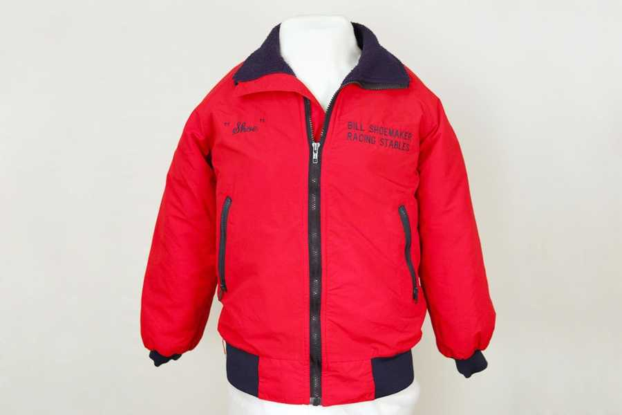 This Shoemaker Racing Stables jacket commemorates Bill Shoemaker's second career as a trainer.