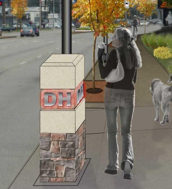 New iconic marker along sidewalks