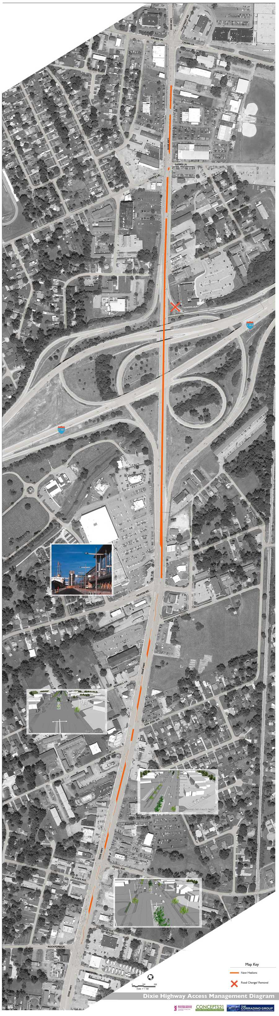 Dixie Highway Access Management Diagram