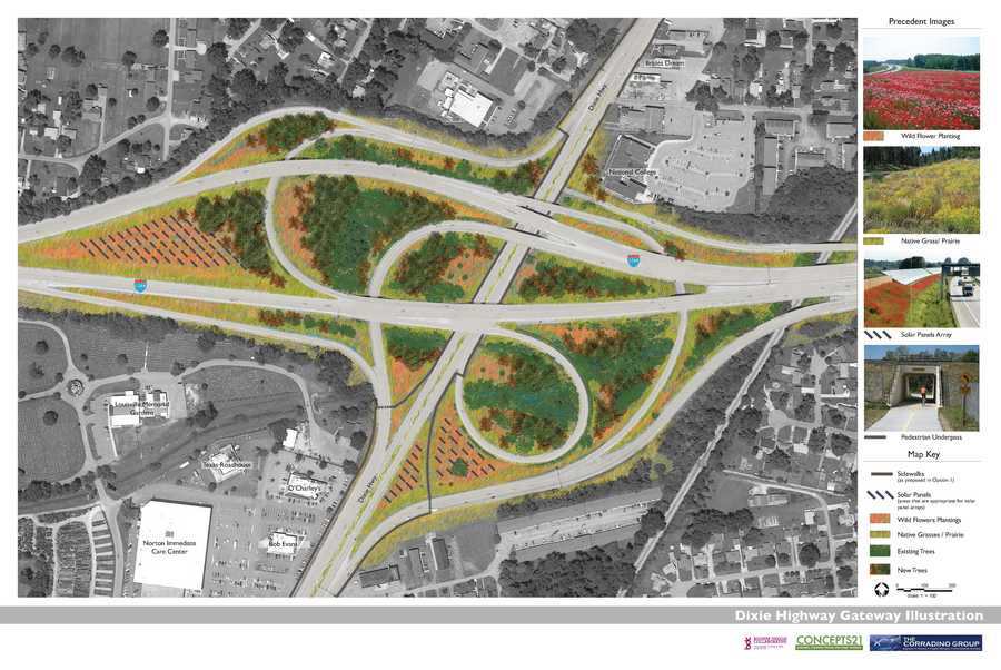Dixie Highway Gateway Illustration