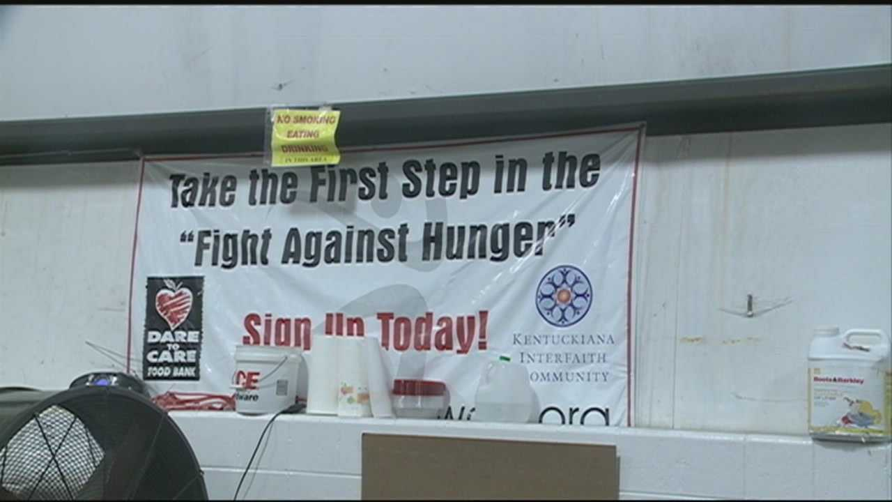 More that 600,000 Kentucky families are getting by with the help of food banks.
