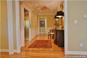 Beautiful hardwood floors in the foyer.
