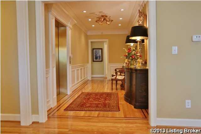 Beautiful hardwood floors in the foyer.