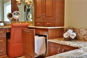 Towel warmer drawer.