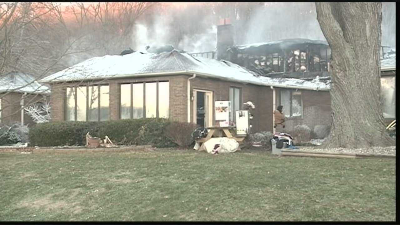 A Charlestown home is considered a total loss after a Wednesday morning fire.