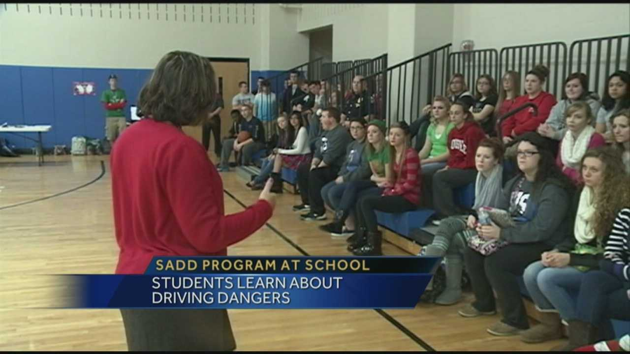 Teacher injured by impaired driver brings SADD to school