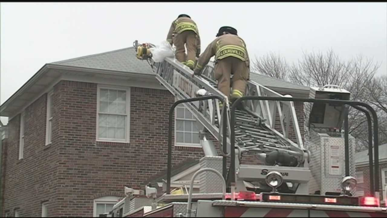 Several people were forced from their homes by an apartment fire in the 4800 block of South Third Street.