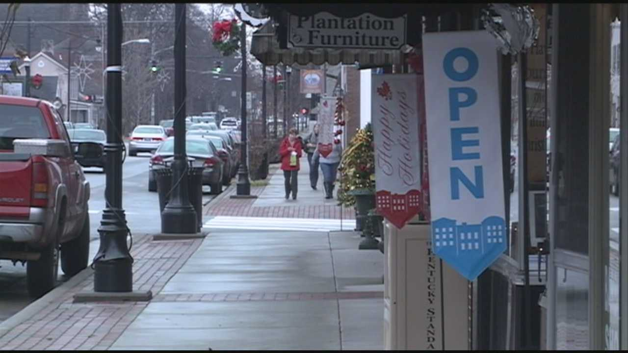 Some holiday shoppers are headed to Bardstown in search of unique gifts.