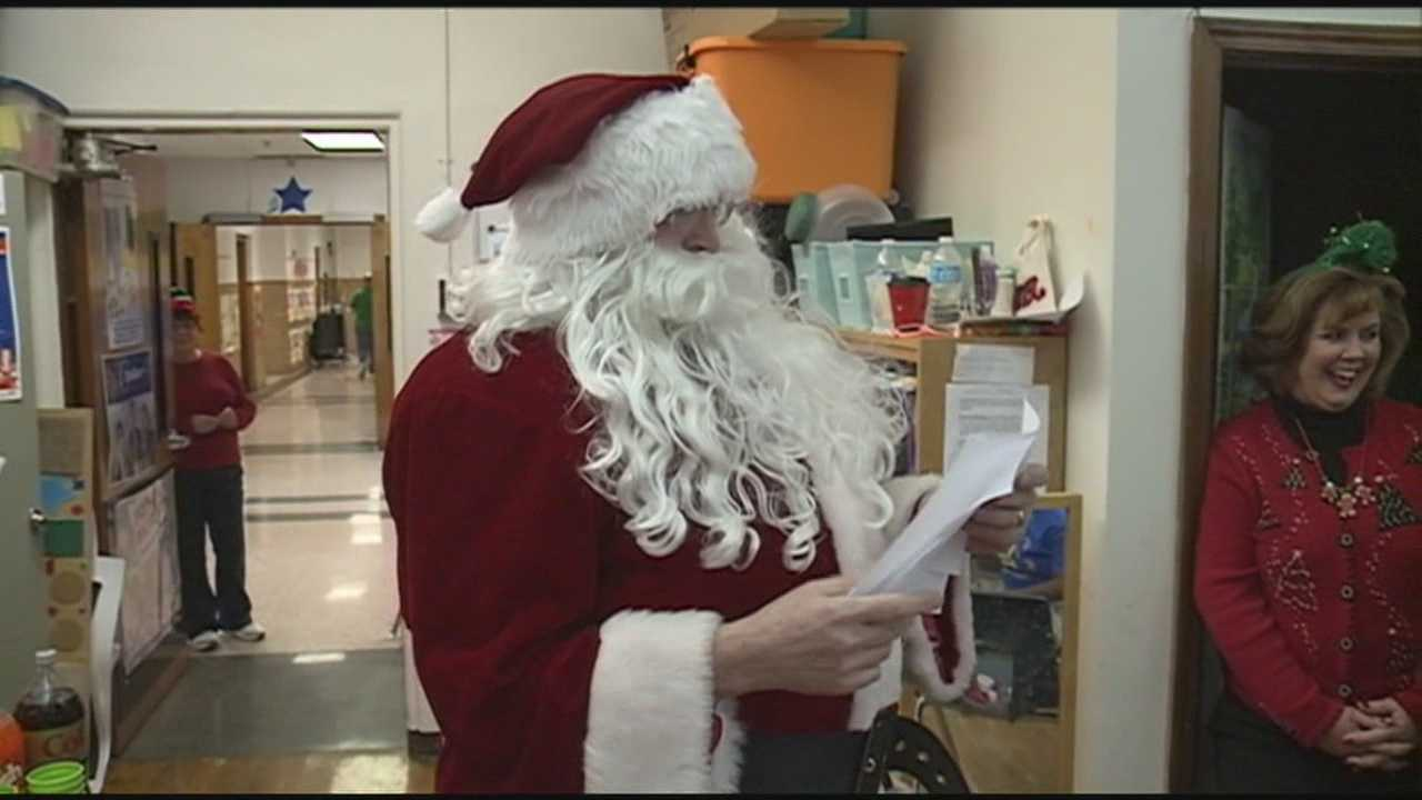 Santa Claus visits special needs students at area school