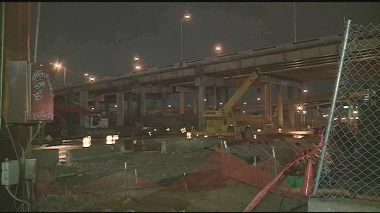 The ramp from northbound Interstate 65 to westbound Interstate 64 is closed indefinitely.