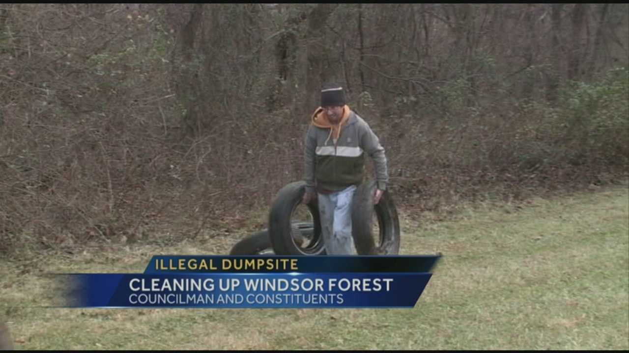 One neighborhood is fighting back against illegal dumping in the area.