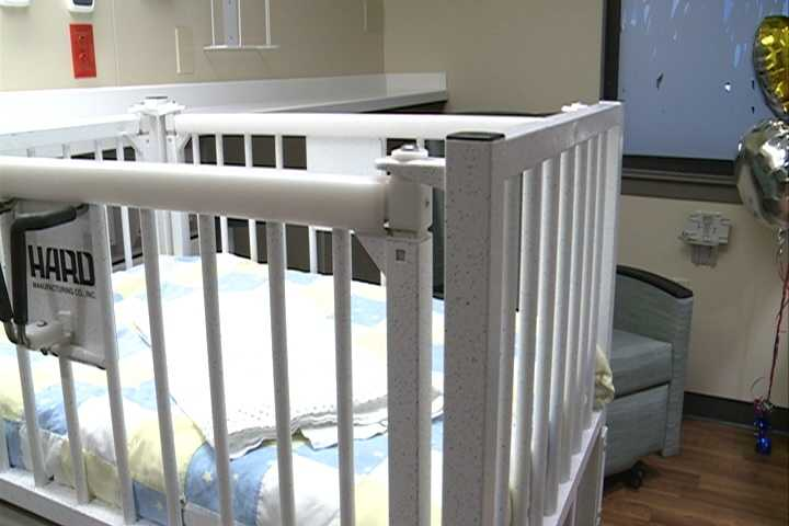 Renovations included enclosing patient areas for privacy and comfort for parents while they spend time with their children.