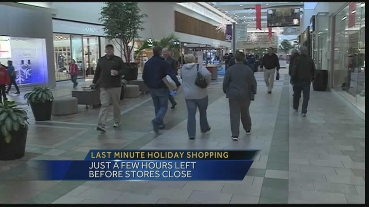 People are taking advantage of their last few hours of shopping before the stores close.