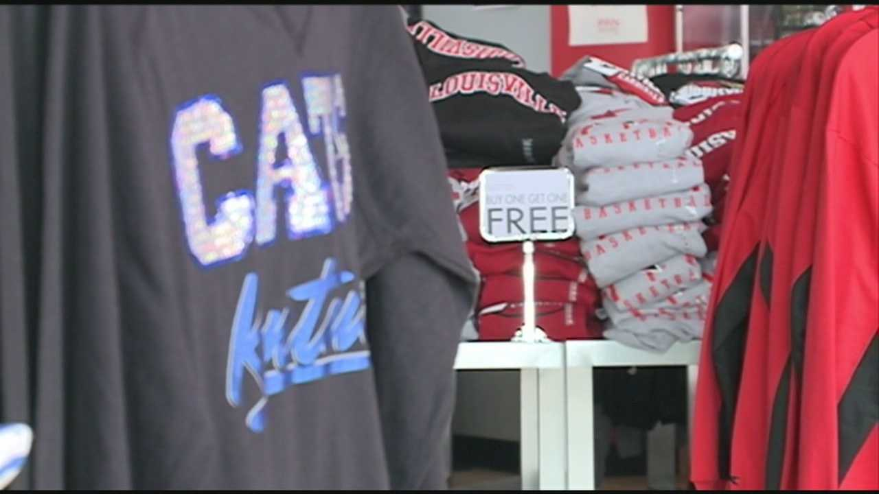 A Louisville couple is divided over Saturday's basketball rivalry between the Kentucky Wildcats and Louisville Cardinals.