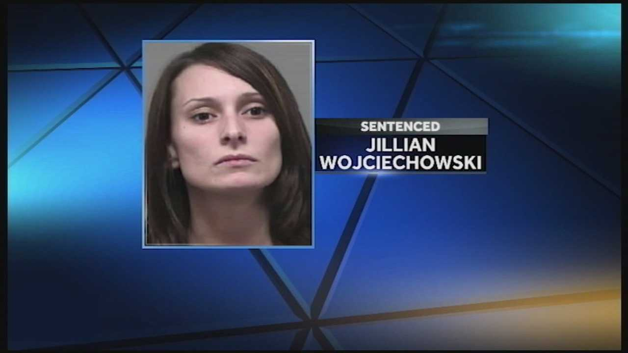A Louisville woman is sentenced to 18 years in prison Friday in connection with a pair of bank robberies.