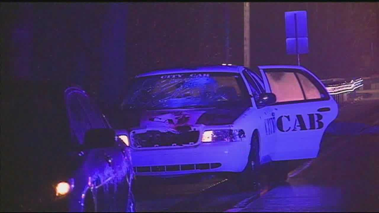 One person is dead after being hit by a cab Saturday morning.