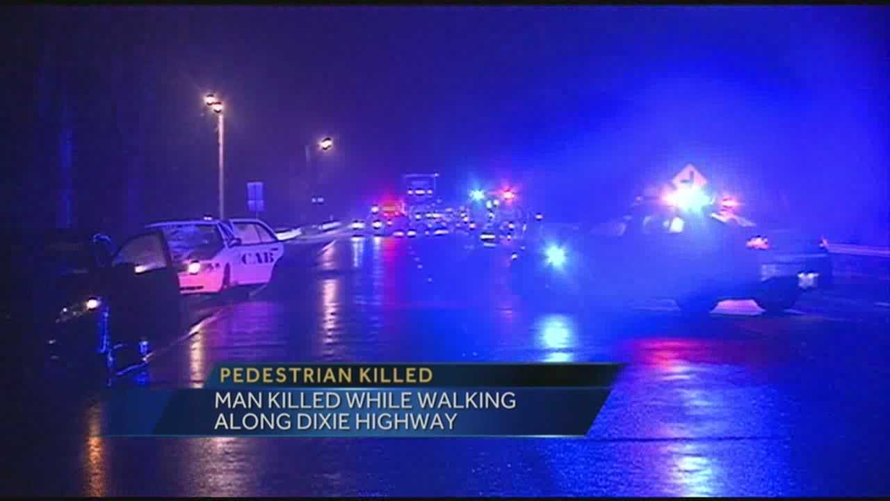 Man killed while walking along Dixie Hwy.