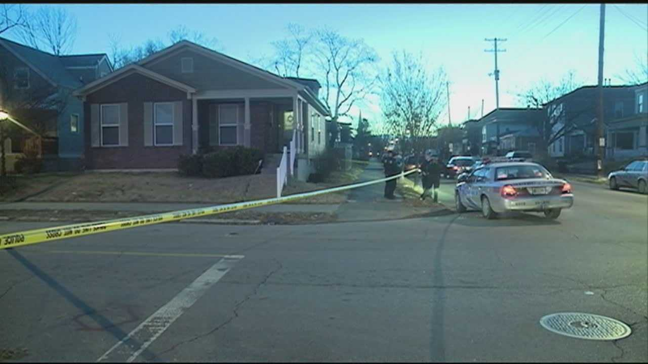 Police search for a gunman after a man is shot Wednesday morning in Louisville's Russell neighborhood.