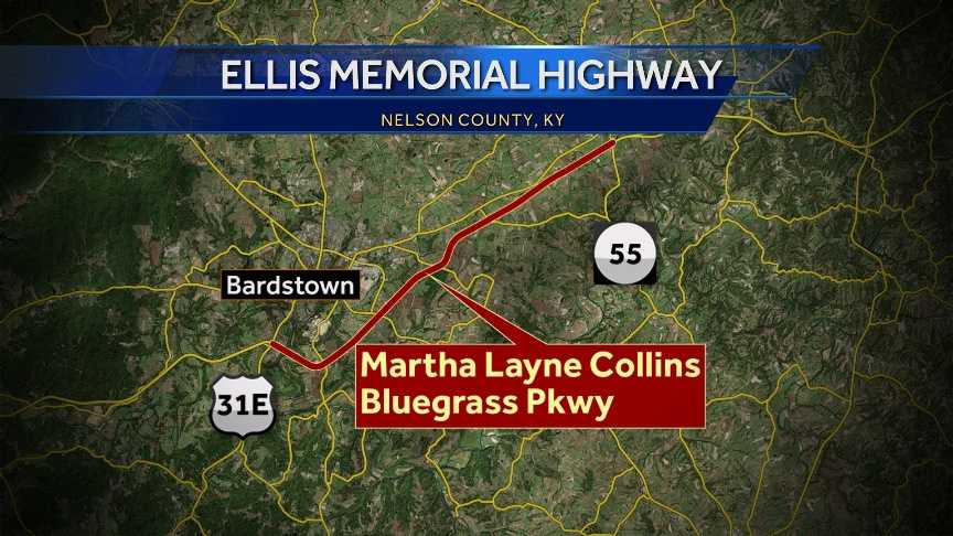 If passed, the Officer Jason Ellis Memorial Highway will run from the United States Route 31E underpass to the Kentucky Route 55 underpass on the Bluegrass Parkway.
