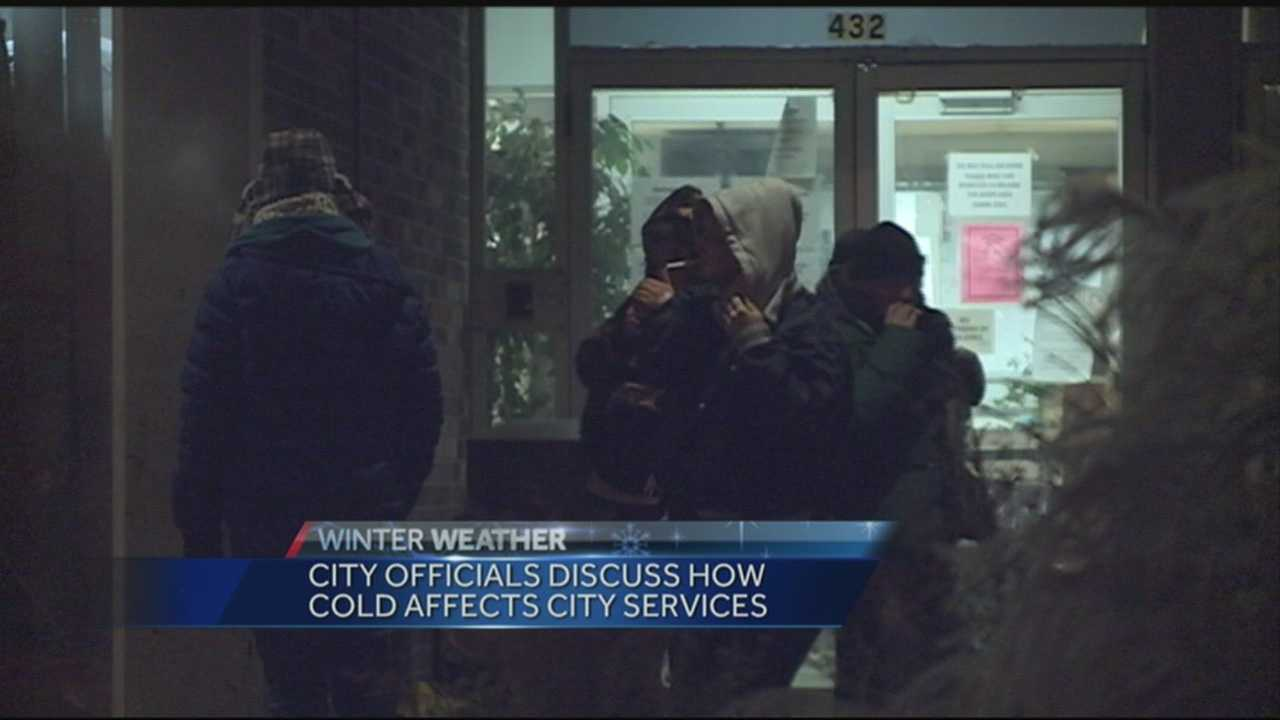 City officials discuss how cold affects city services.