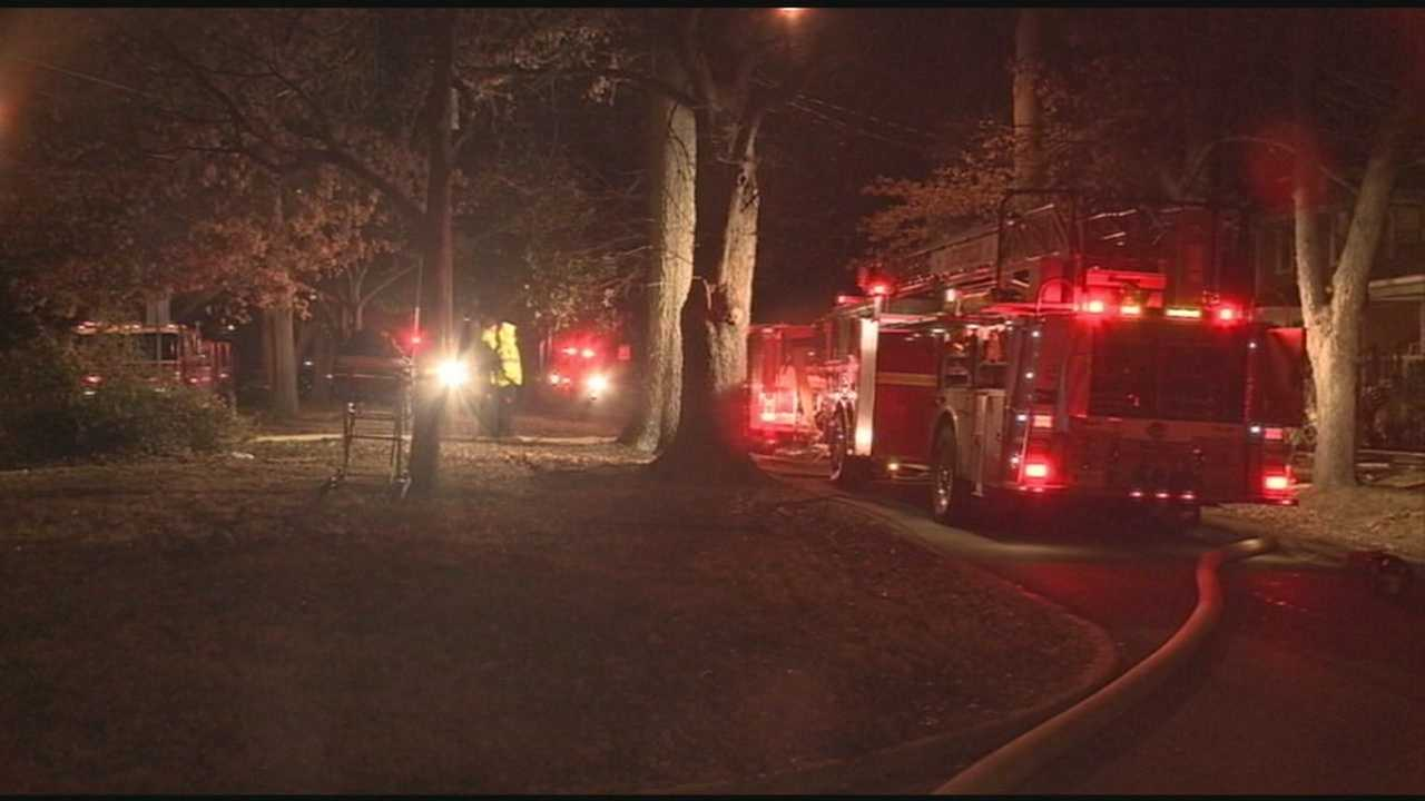 Firefighters were called to the scenes of two house fires and braved frigid conditions.