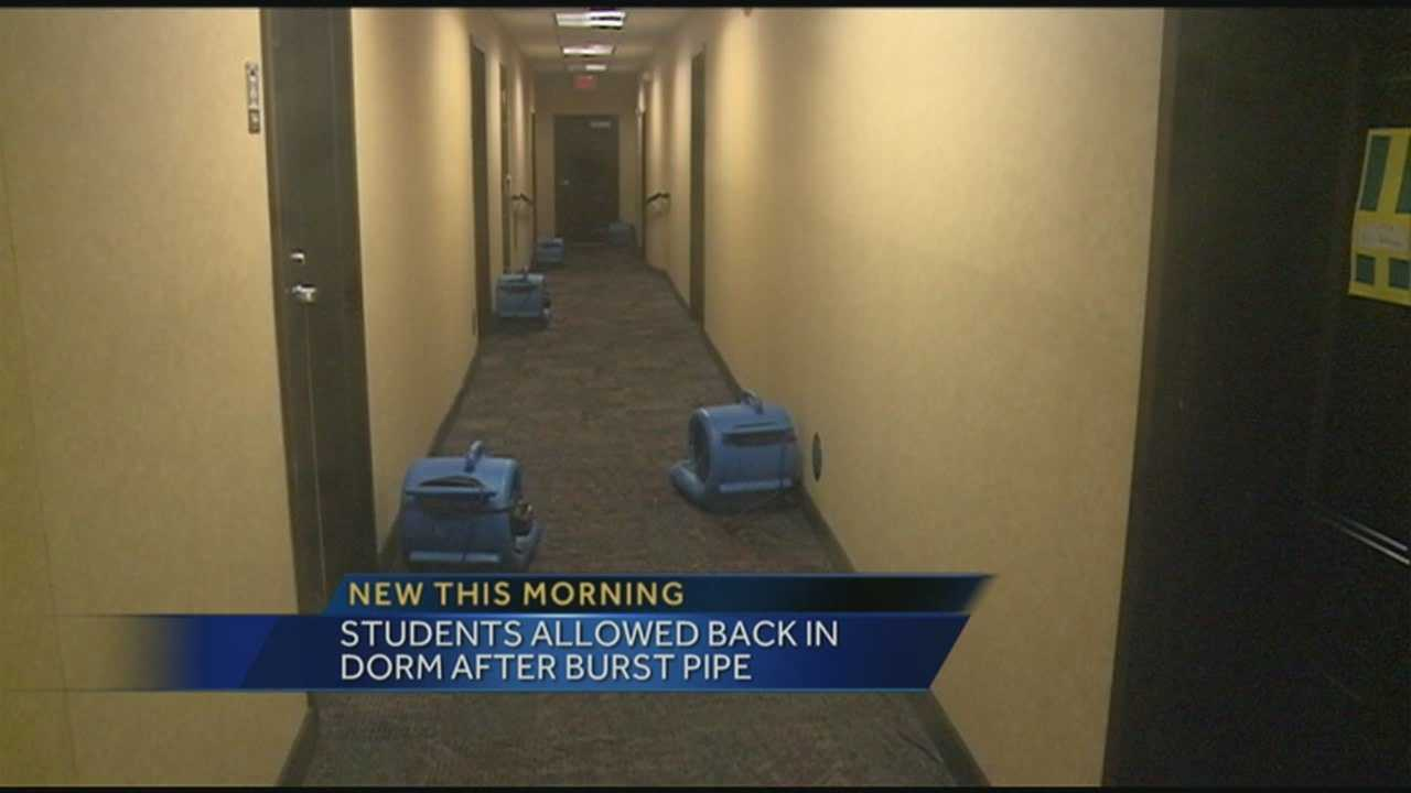 Pipe bursts in UofL dorm