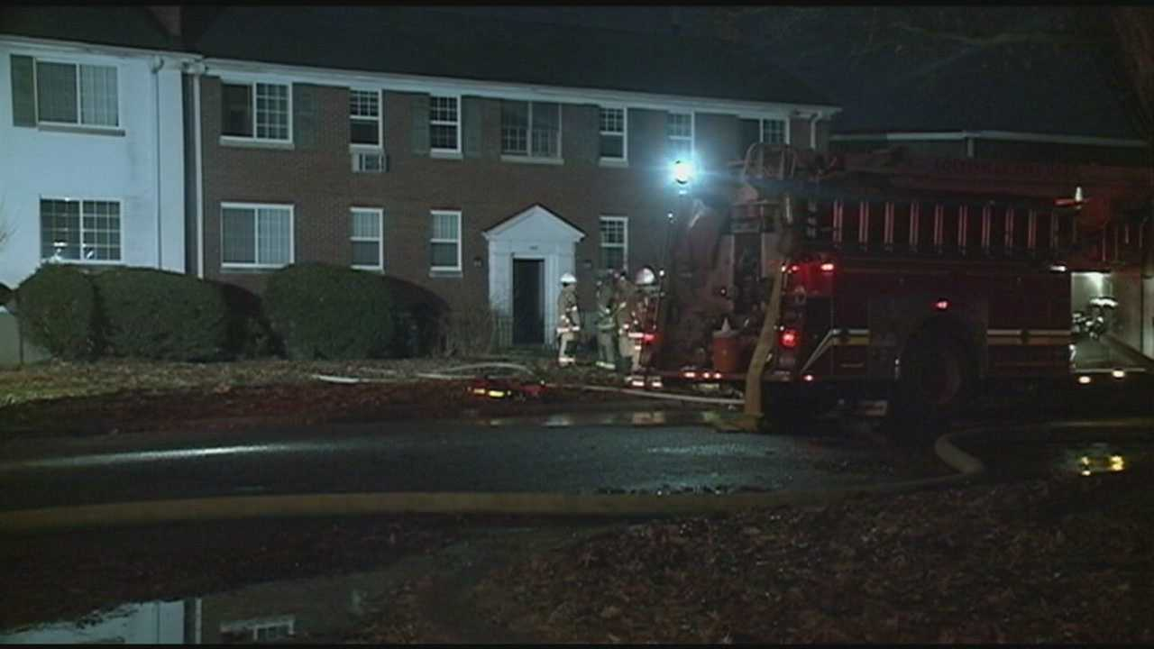 A family was able to escape an early-morning apartment fire unharmed.