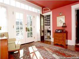 French doors open out to the patio area.