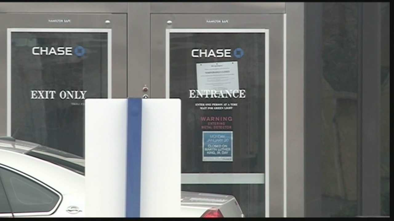 Two Chase Banks were robbed in separate incidents Monday morning.
