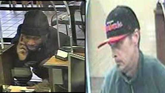 Police released surveillance pictures from two different Chase Bank robberies.