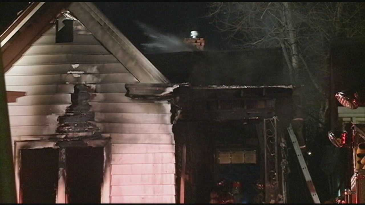 An early-morning house fire in New Albany sends one person to the hospital.