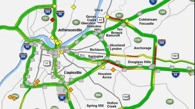 Snow and slick roadways are causing trouble for some commuters, with accidents and slower drive times.