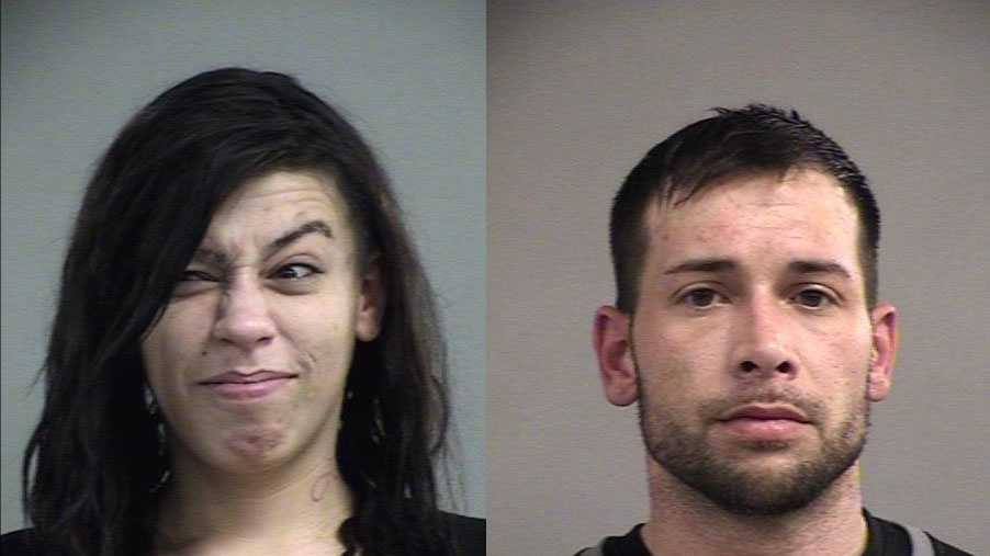 Amber Lickliter and Andrew Sivado are charged with trafficking in a controlled substance, and possession of drug paraphernalia.