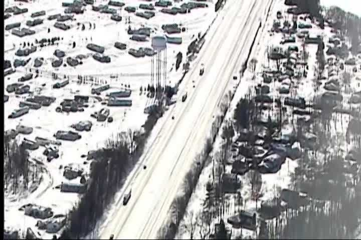 Interstate 65 was closed in southern Indiana Tuesday for several hours after heavy snow fell in the area.