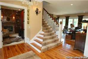 Hardwood floors throughout the first floor.