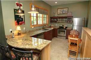 It also includes a decked out kitchen.