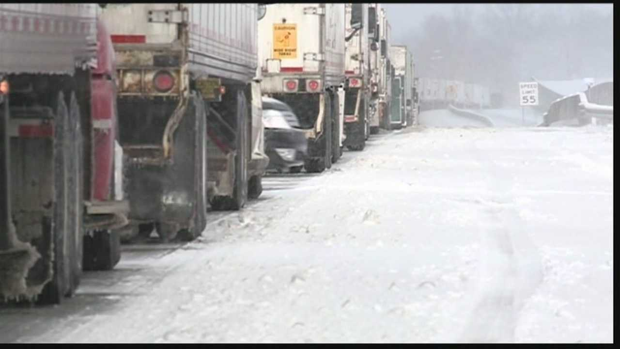 Drivers spent hours in delays after winter weather hit southern Indiana Tuesday morning.