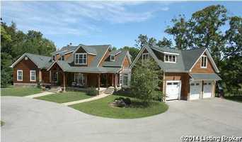The mansion boasts a five car garage.