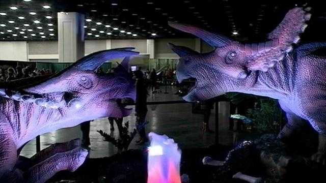 The Discover the Dinosaurs exhibit continues Sunday at the Kentucky Exposition Center.