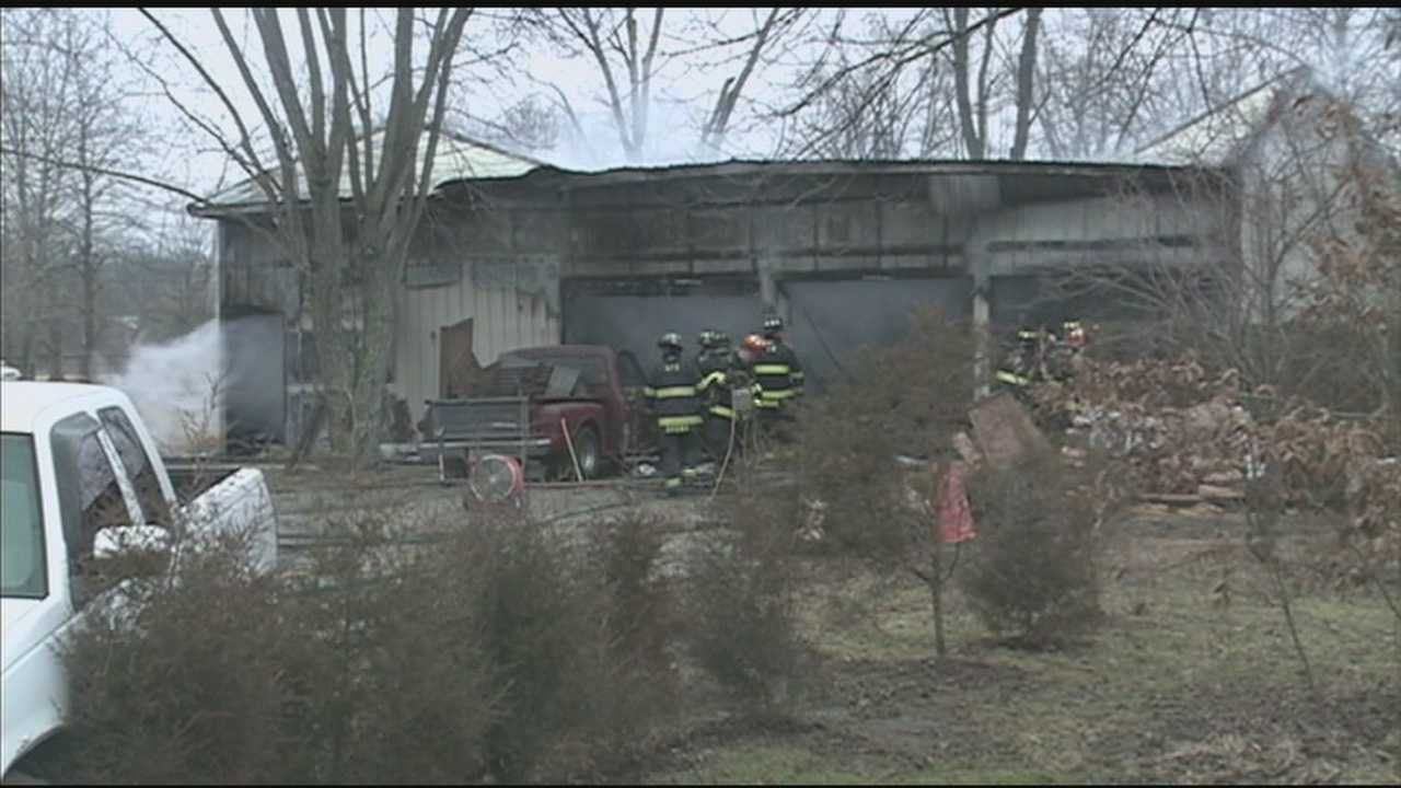 Firefighters were busy with two fires in the Shepherdsville area Sunday.