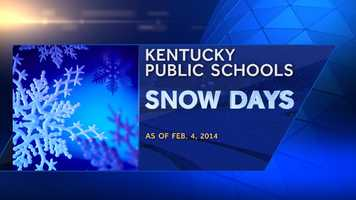 How many snow days has your school district had? How does that rank among the rest of the state? Take a look...