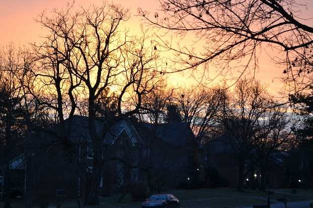 Beautiful sunrise to another day at home in the frozen tundra.
