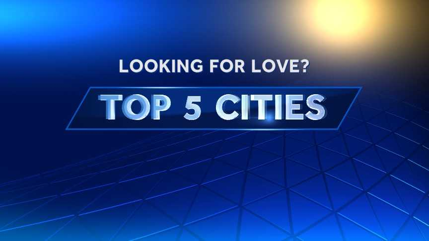 According to the data presented by Facebook, the top five cities for a single person to form a relationship are:
