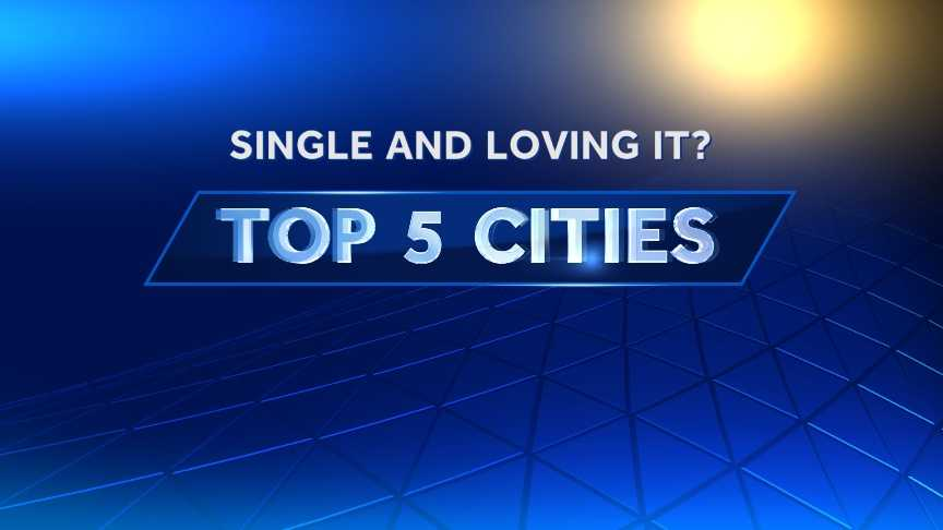 For those who say just say no to love on Valentine's Day, Facebook also ranked the top five cities for singles.