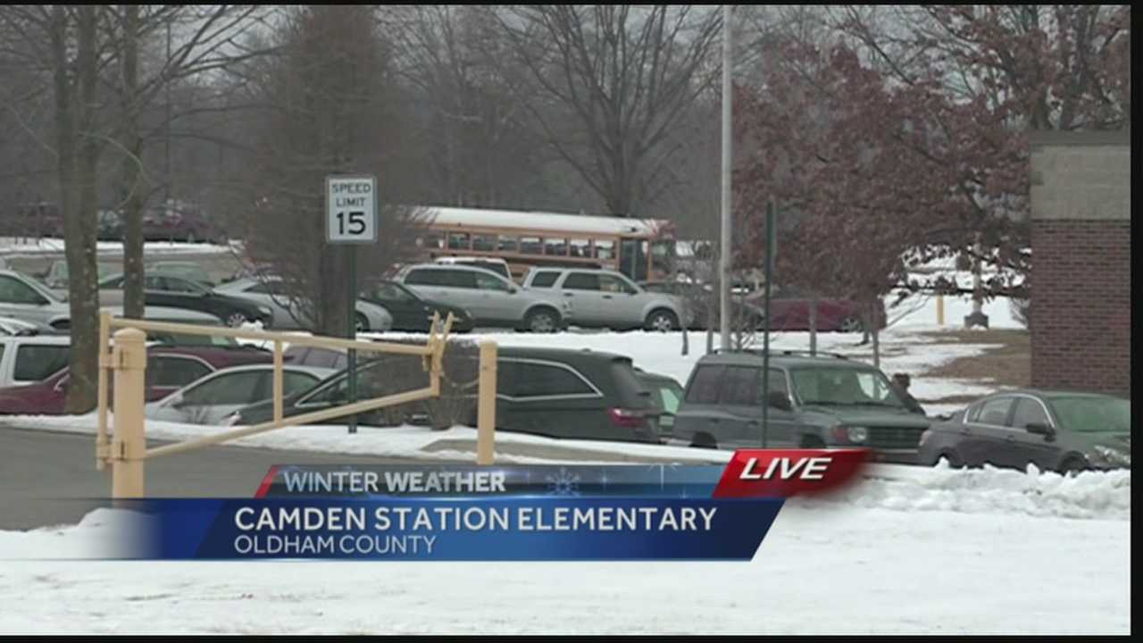 Oldham County school are letting out early due to impending weather.