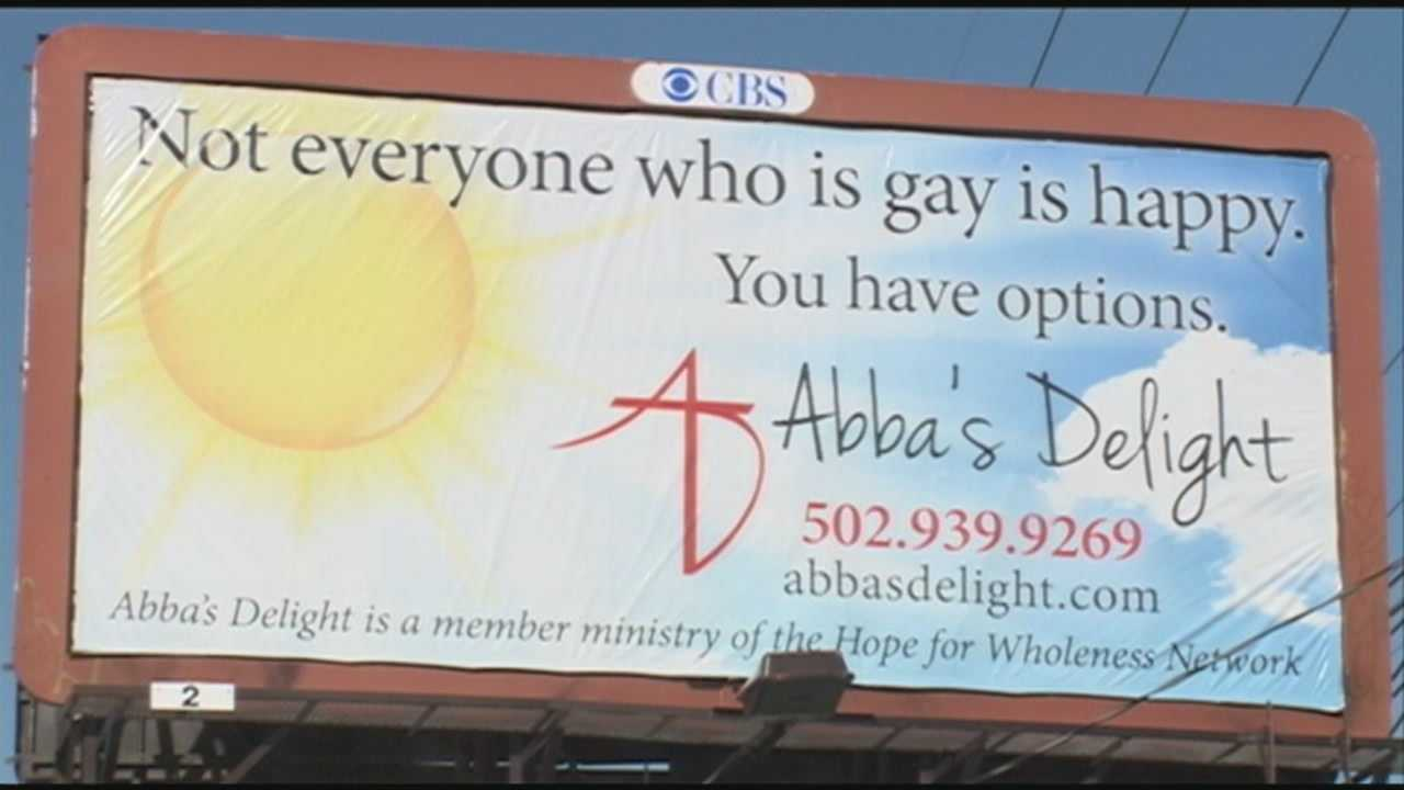 Some members of Louisville's gay community are upset over a new billboard on display in the Highlands.