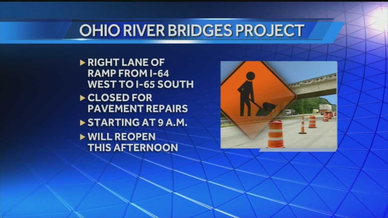 The morning commute could be slowed down due to bridge work.