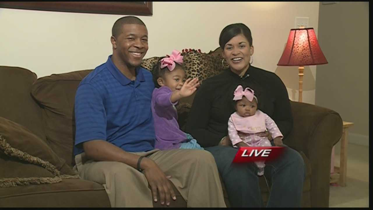 WLKY's Monica is on maternity leave and introduces new baby Eden Joy, daughter Faith and husband James.