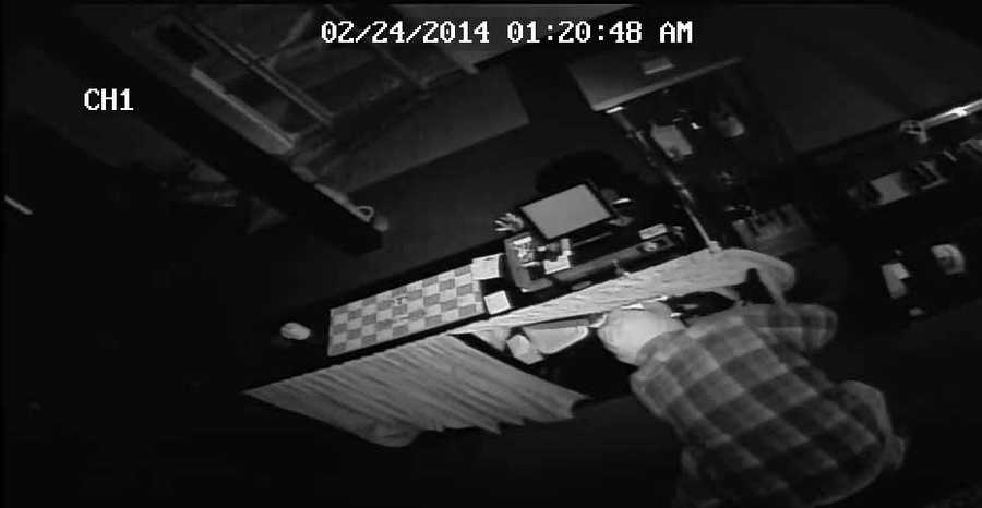 The search is on for a masked man who broke into Derb E Cigs in Jeffersontown in the wee hours of Monday.