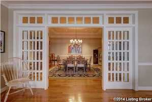 The formal dining room is as beautiful, as it is spacious!